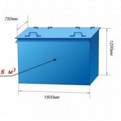 Контейнер металлический объём 1,6 м3