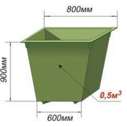 Контейнер металлический 0,5 м3